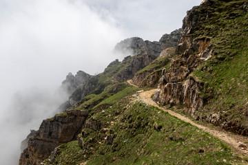 Weg auf den Pasubio in den italienischen Alpen