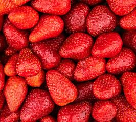 Red ripe organic strawberries