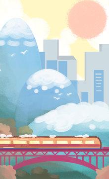 Transportation illustrations