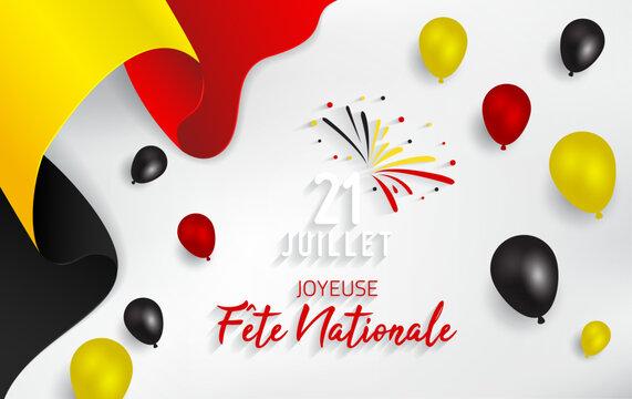 Belgium National Day - Belgian National Day. 21 Juillet Fete Nationale