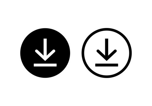 download icon symbol vector