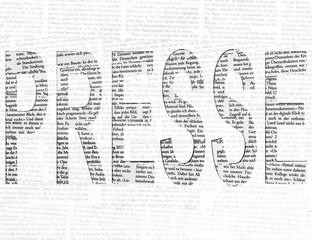 Presse Strukturschrift