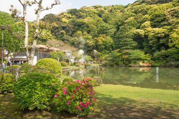 Heiße Quellen in Beppu in Jpan