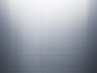High quality of stainless steel metal texture background with reflection