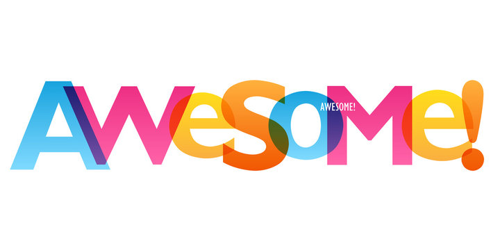 AWESOME! colorful vector typography banner
