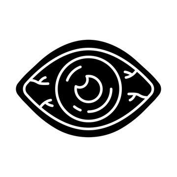 Allergic conjunctivitis glyph icon