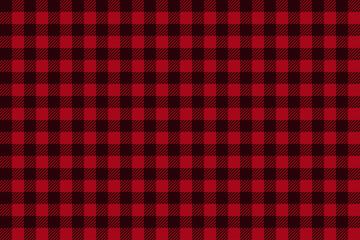 Red Black Lumberjack plaid seamless pattern