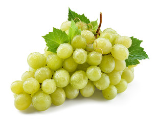 Grape isolated. Grapes on white. With clipping path. Full depth of field.