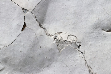 Old flaking and cracked plaster