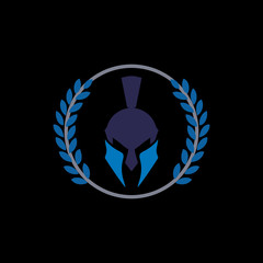 spartan helm logo and abstract logo