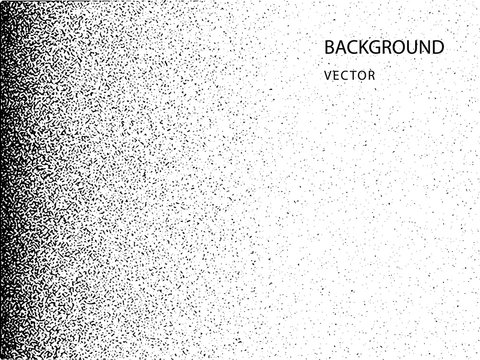 Abstract vector noise vanishing. Grunge texture overlay with fine particles on an isolated background.