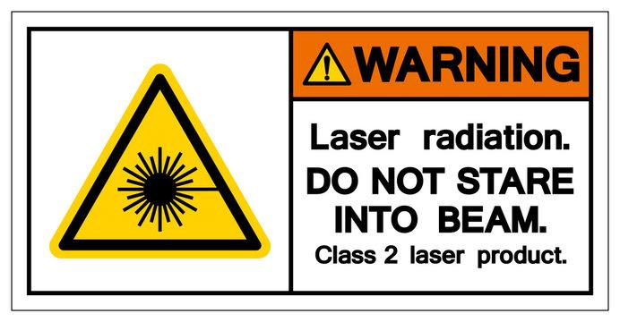 Warning Laser Radiation Do Not Stare Into Beam Symbol, Vector Illustration, Isolate On White Background Icon. EPS10