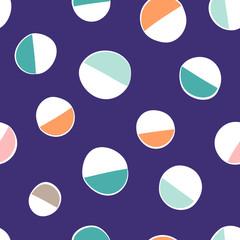 Fun abstract circles repeat pattern design