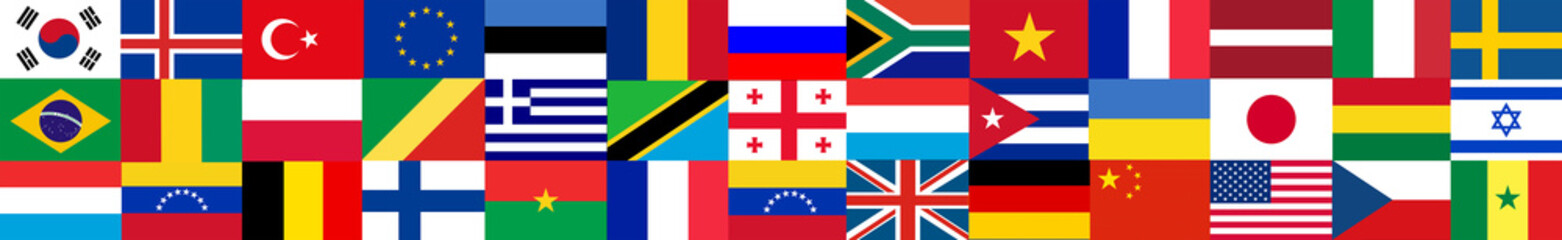 Flags of the world Fotomurales