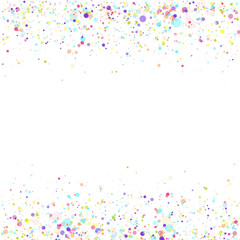 Vector Birthday Party Background with Colorful Flying Paper Confetti