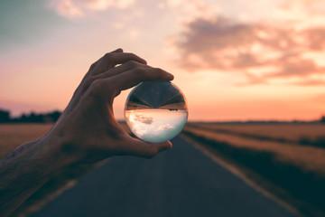 La psicologia della mente, palla di vetro. Wall mural