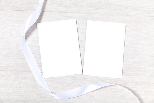 Double Wedding Stationery Mockup Template, 5x7 Classic Wedding Invite