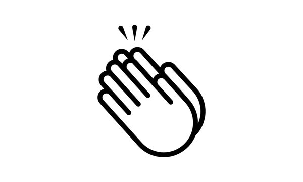 Applause icon clapping hands vector image