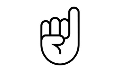 Fist with elongated little finger line icon. Hand, pinky, sign. Gesturing concept. Can be used for topics like communication, promise, cooperation - Vector