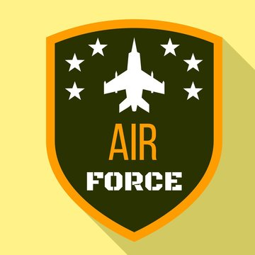 Fighter air force logo. Flat illustration of fighter air force vector logo for web design