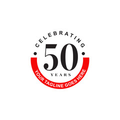Celebrating 50th years anniversary logo design