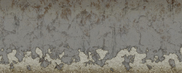 Wall Murals Old dirty textured wall 3d illustration damage wall background