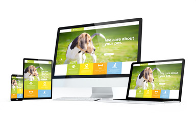 mobility devices pet website responsive design