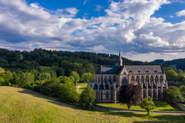 The Altenberg Cathedral from a bird's eye view