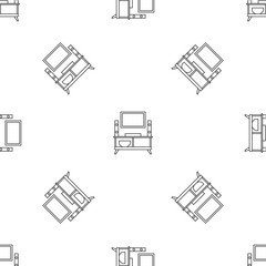 Home tv system pattern seamless vector repeat geometric for any web design