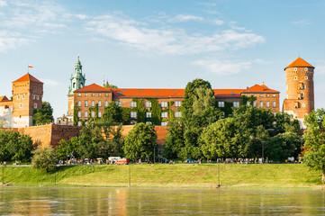 Autocollant pour porte Cracovie Wawel castle in Krakow, Poland, Europe.