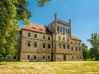 Mirow Castle in Ksiaz Wielki, Poland