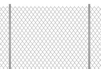 Metallic chain fence. vector illustration