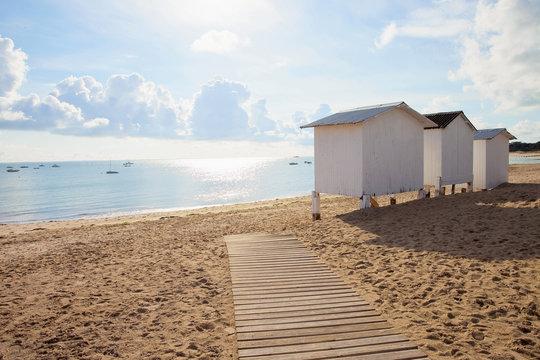 Cabine de plage sur lîle de Noirmoutier en Vendée