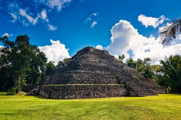 Pyramid in archaeological site Chacchoben, Yucatan, Mexico, Quintana Roo