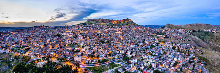 The old city of Mardin at sunset, Turkey