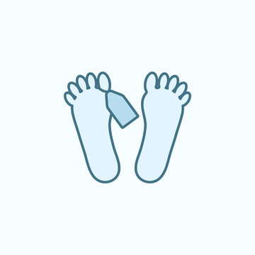 feet of corpse field outline icon. Element of crime icon