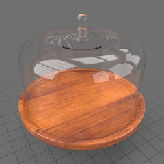 Glass domed cake stand 2