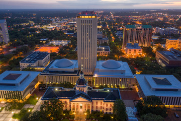 Aerial photo Florida State Capitol Building Wall mural
