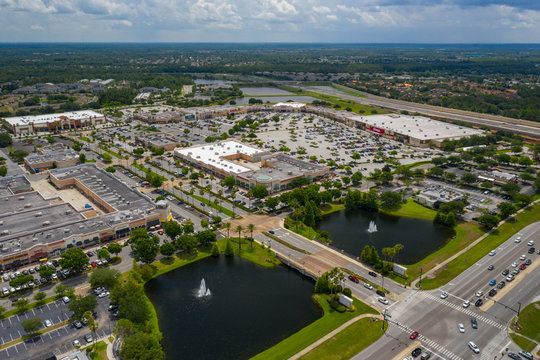 Aerial photo Waterford Lakes Town Center shopping plaza