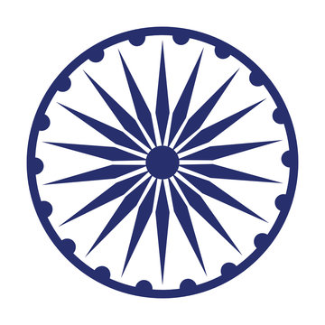 ashoka chakra symbol icon cartoon