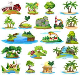 Set of island nature