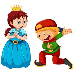 Papiers peints Jeunes enfants Boy and girl wearing costume