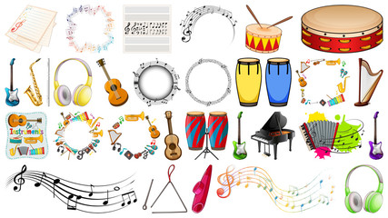 Set of music instrument