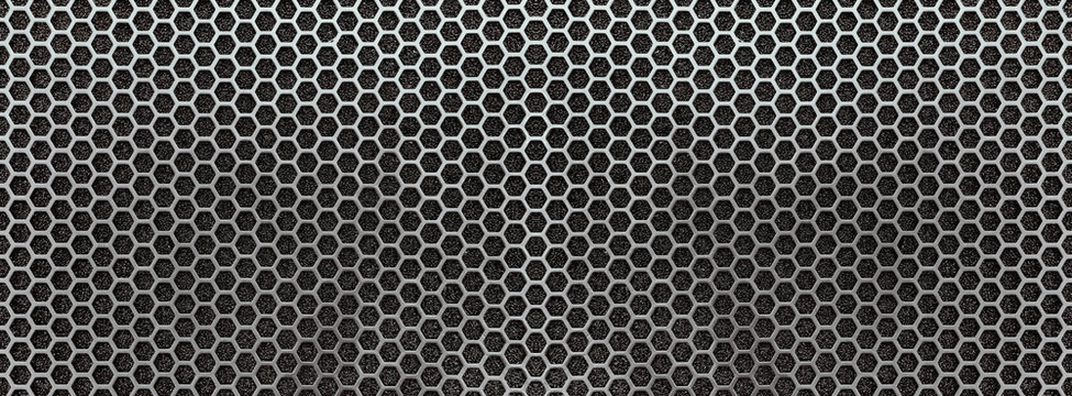 Dark metal mesh texture