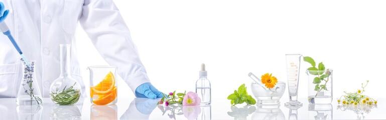 Fototapeta Scientific Experiment with herbs obraz