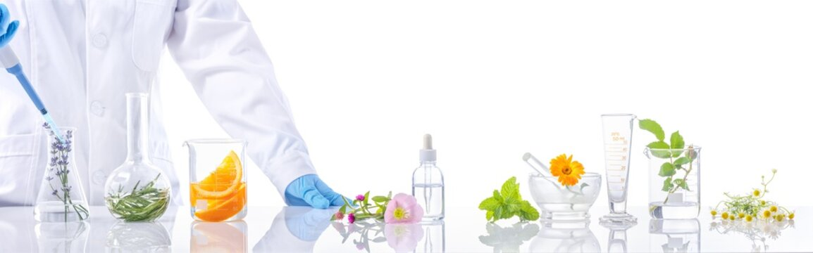 Scientific Experiment with herbs
