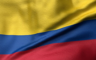 3D Illustration of Colombia Flag