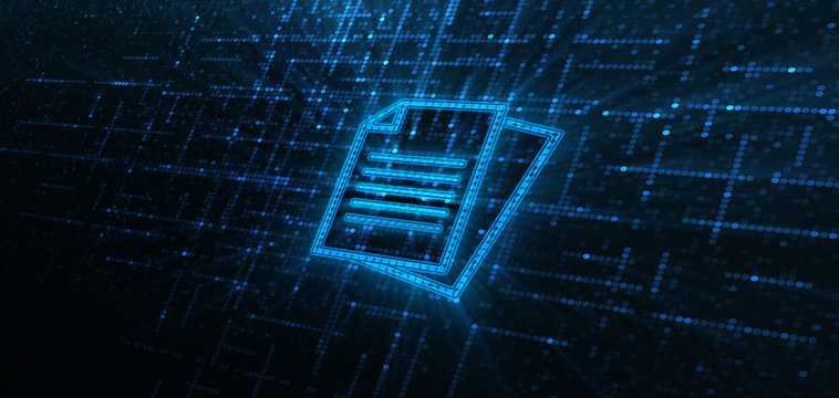 Document Management Data System Business Technology Concept