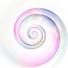 Foto auf Acrylglas Spirale soap bubble colors spiral background illustration