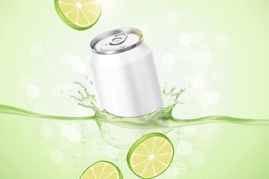 Lime flavor beverage ads